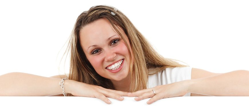 Lady with good teeth