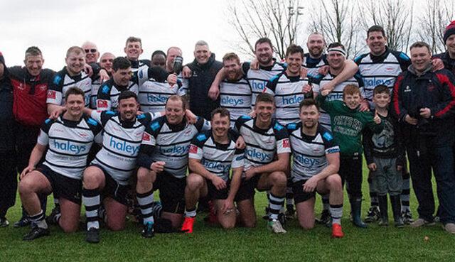 Nugent Santé sponsor rugby trophy winners Preston Grasshoppers